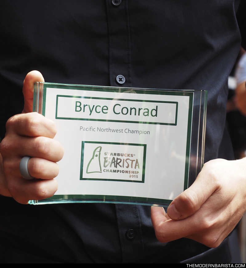 Bryce Conrad - your 2015 barista champion!