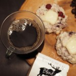 Blackberry & brie scone paired with Bozeman blend