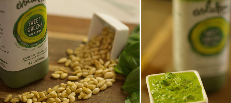 Sweet greens pesto