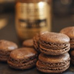 Bainbridge Island blend with dark chocolate macarons