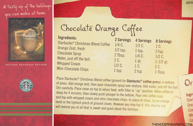 Starbucks Holiday Beverage Recipes