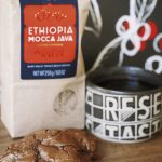 Ethiopia Mocca java with double chocolate cookies