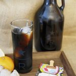 Cold Brew Rwanda Hingakawa with mandarin-ginger simple syrup