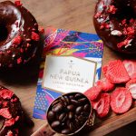 Papua New Guinea Lamari Mountain with chocolate strawberry donuts