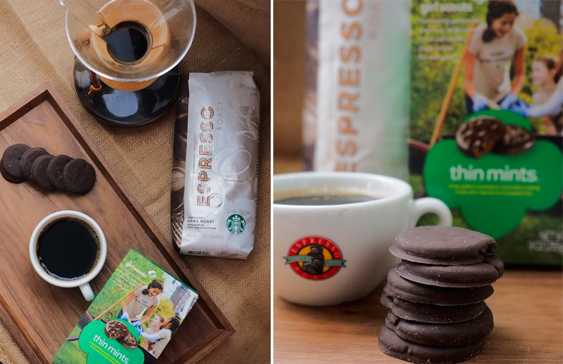 Girl Scout Cookies & Starbucks: Thin Mints + Espresso Roast