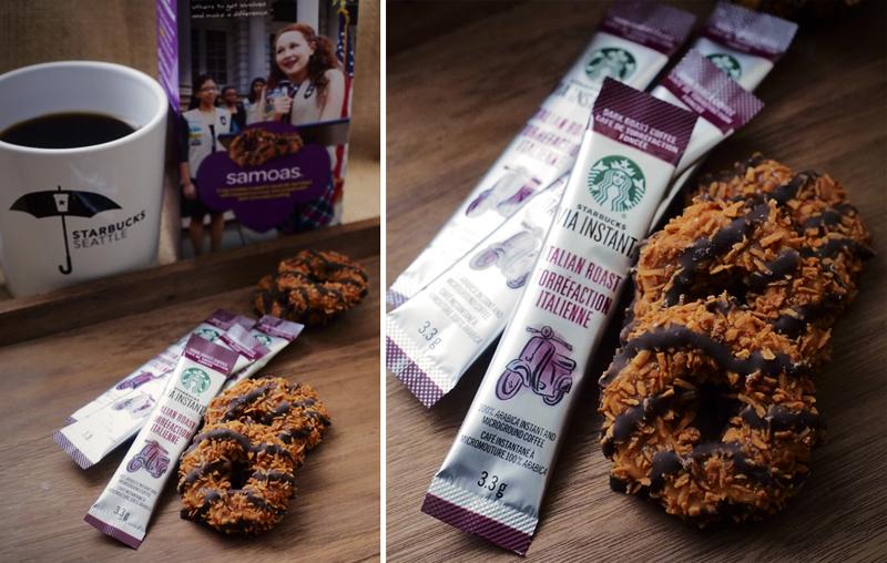 Girl Scout Cookies & Starbucks: Samoas + Italian Roast