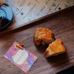 Nicaragua Monimbo with apricot upsidedown cake