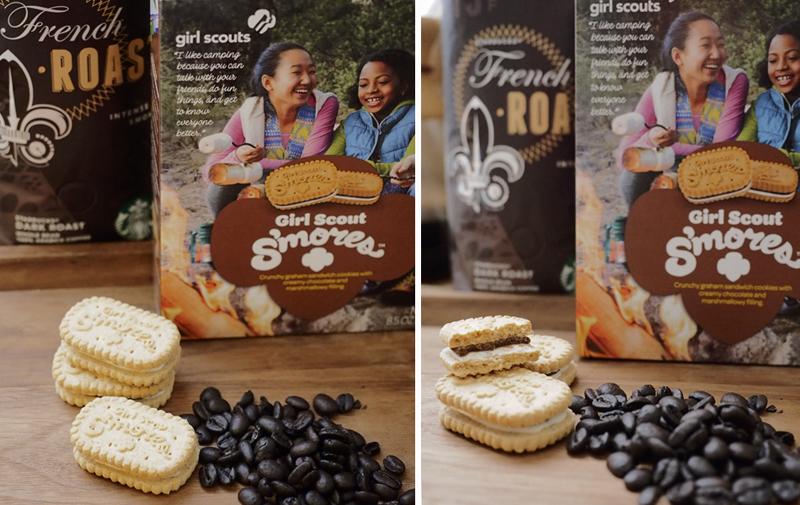 Girl Scout Cookies & Starbucks: s'mores + French Roast
