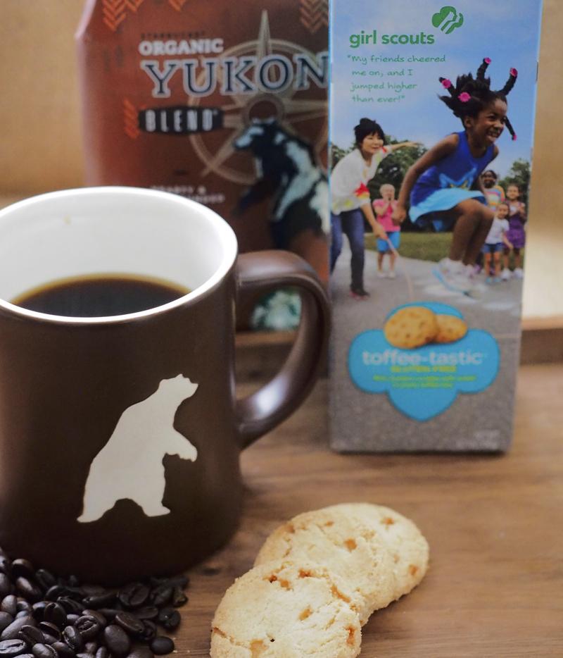Girl Scout cookies Toffee-tastic + Yukon blend