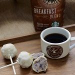 Breakfast Blend with blueberry muffin cake pops