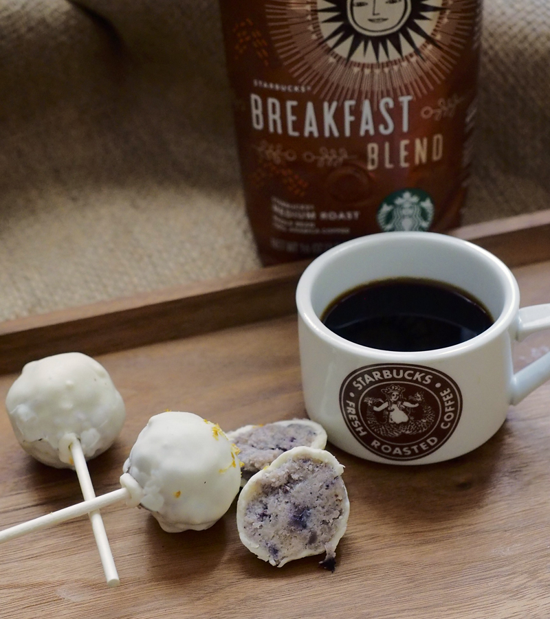Breakfast Blend With Blueberry Muffin Cake Pops The