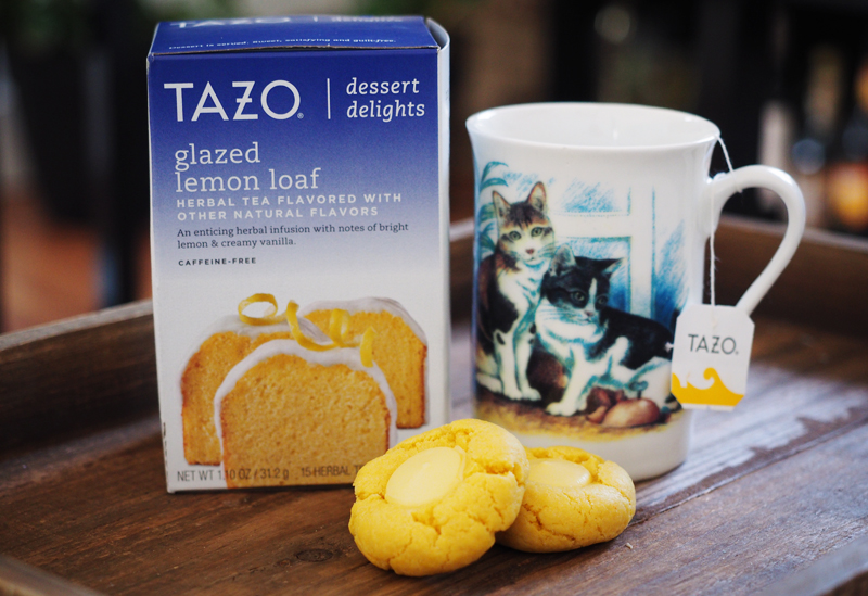 Tazo dessert delights | glazed lemon loaf